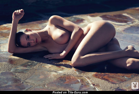 Alejandra Guilmant - Superb Wet Mexican Playboy Brunette Babe with Superb Exposed Normal Tittes & Erect Nipples (Hd Xxx Photoshoot)