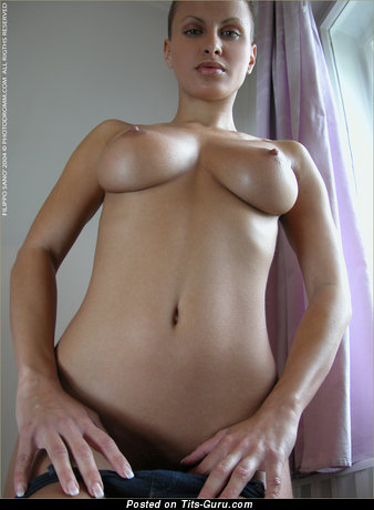 Nude awesome female with medium natural boob image