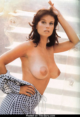 Lana Wood - Stunning American Brunette with Stunning Bare Natural Dd Size Tit (Vintage Hd Porn Image)