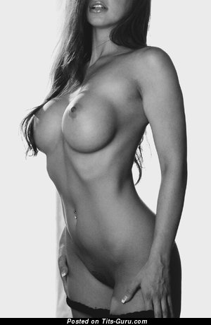 Image. Nude hot female with medium fake breast pic