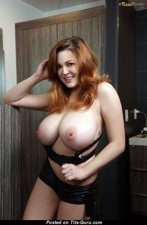 Tessa Fowler - Dazzling Topless American Red Hair Pornstar with Dazzling Open Real Huge Tittes & Huge Nipples (Hd Porn Pix)
