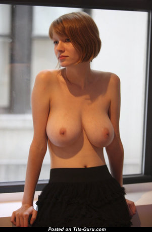 Good-Looking Topless Red Hair Secretary with Giant Nipples (Sex Pic)