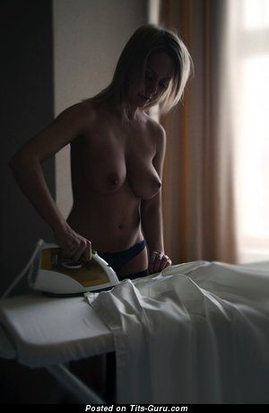 Image. Nude nice woman with medium natural breast image