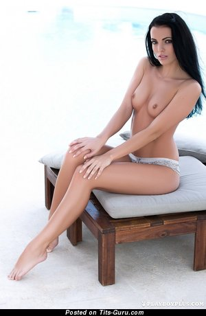 Naked amazing lady with medium natural boobies picture