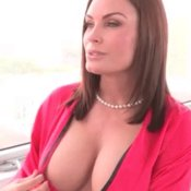 Topless wonderful woman with medium natural tits gif