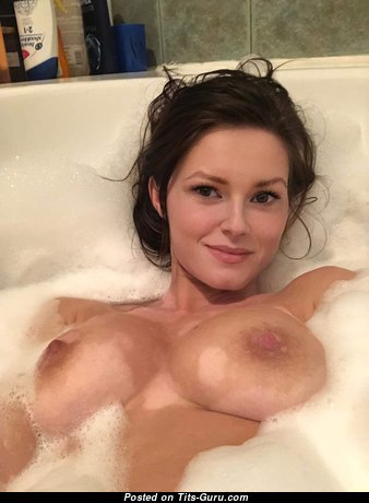 Appealing Topless & Wet Brunette Babe & Mom in the Pool & Shower (Hd Sexual Wallpaper)