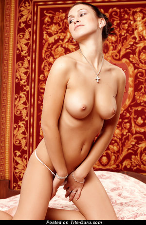 Image. Naked awesome woman with medium natural breast photo