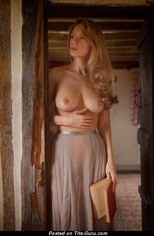 Image. Nude beautiful female with natural breast photo