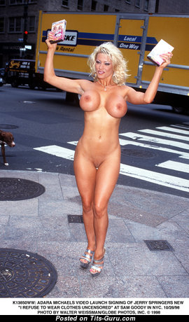 Adara Michaels - Fascinating American Blonde with Fascinating Nude Fake Very Big Breasts (Hd Xxx Wallpaper)