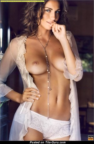 Image. Debora Salvalaggio - brunette with natural breast image