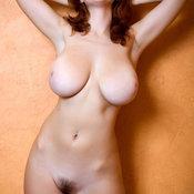 Beautiful girl with big natural tots and big nipples image