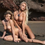 Nikky & Victoria - blonde with big tittys photo