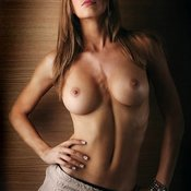 Topless beautiful girl with medium breast picture
