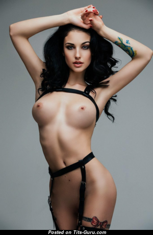 Alla Berger - Hot Topless Russian Brunette with Hot Bare Real Average Boobys (Xxx Photo)