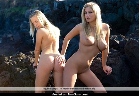 Jacquetta & Magdalene - Marvelous Glamour Blonde with Marvelous Bald Average Tittys & Red Nipples (Hd Sexual Pic)