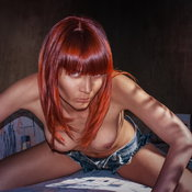 Murzilkamuller - topless red hair with medium natural tits image
