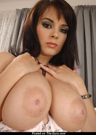 Image. Nude amazing female with huge natural breast picture