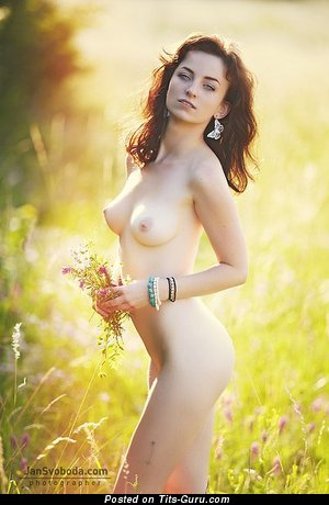 Image. Naked awesome female with medium natural breast pic
