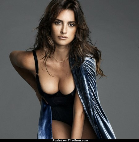 Penelope Cruz - Awesome Spanish Brunette Babe with Awesome Bald Real Regular Boobys (Xxx Picture)