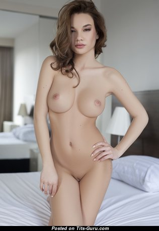 Clara B - The Best Glamour & Topless Brunette with Huge Nipples, Sexy Legs (Porn Pic)