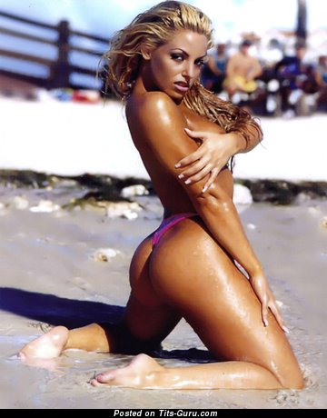Trish Stratus - Fascinating Canadian Blonde with Fascinating Bare Firm Melons (Hd Xxx Picture)