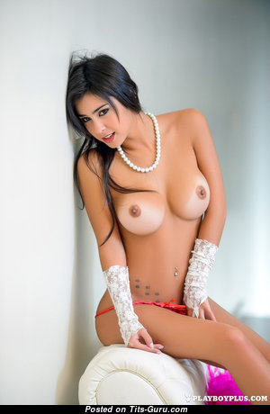 Celeste Sablich - Sexy Topless Argentine Playboy Red Hair Actress with Sexy Open Medium Sized Tittys & Tan Lines (Xxx Photo)