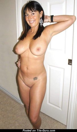Stunning Topless Brunette Housewife, Babe, Mom & Wife with Stunning Bare Real Dd Size Tit, Weird Nipples, Sexy Legs, Tattoo & Tan Lines (on Public Porn Picture)