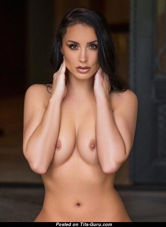 Sexy naked beautiful girl with natural boobies photo