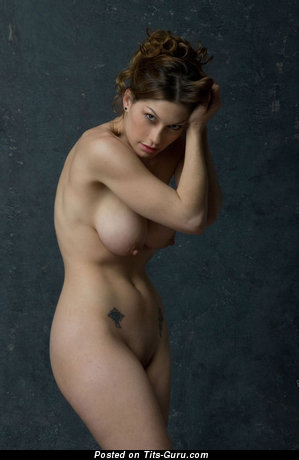 Image. Naked beautiful woman with natural tittes photo