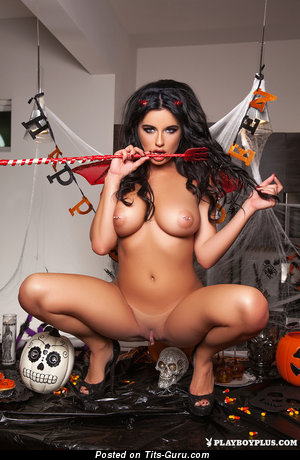 Image. Brittney Shumaker - naked brunette with big boobs and piercing photo