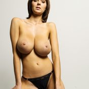 Gabrielle - nice lady with huge natural breast image