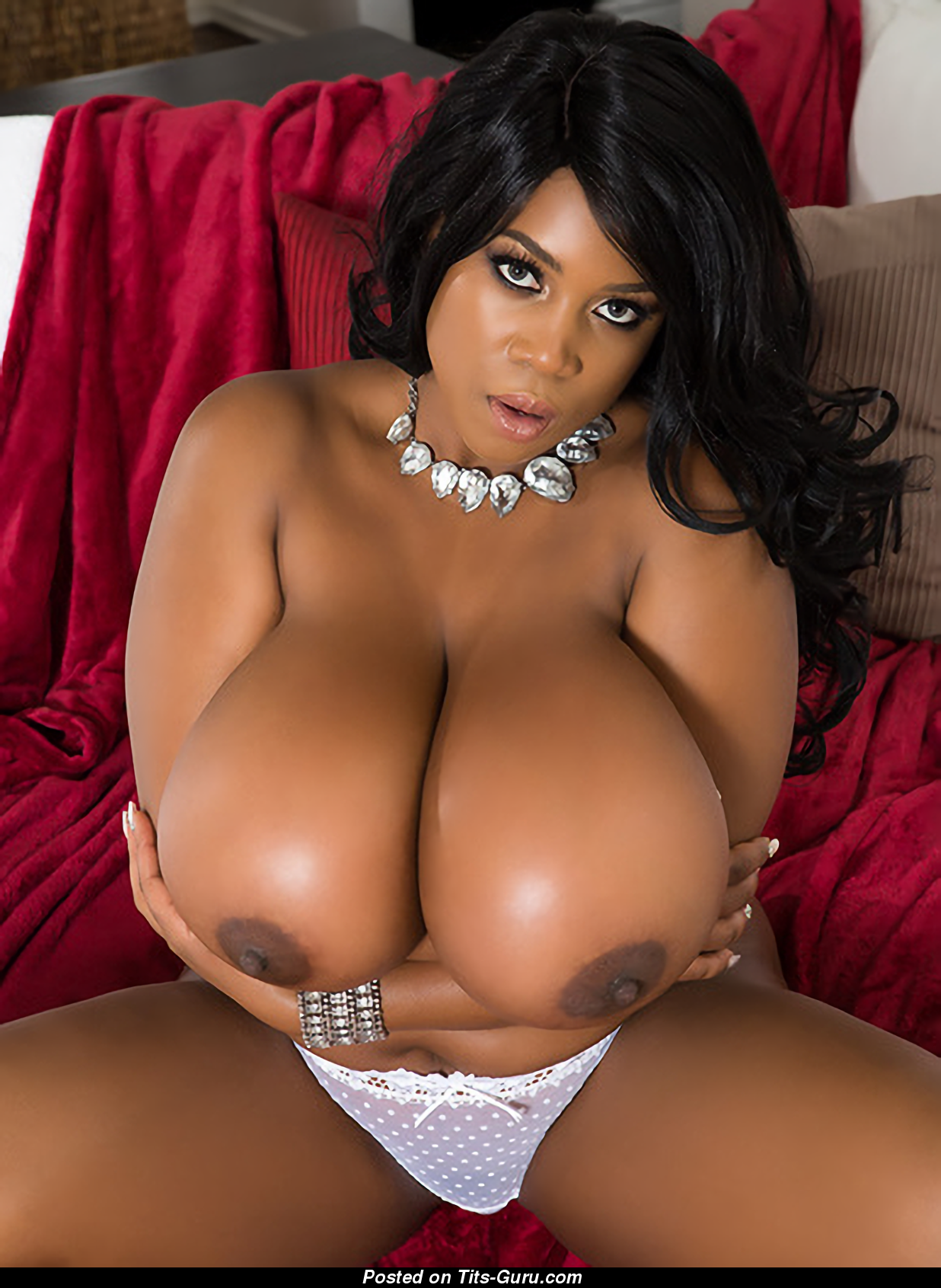 Maserati - Naked Ebony Brunette With Huge Boobs And Big -9547