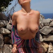 Beautiful lady with natural breast picture