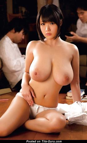 Kaho Shibuya - Graceful Topless Japanese Red Hair Pornstar with Superb Naked Natural Mega Tit & Huge Nipples in Panties (Hd 18+ Foto)