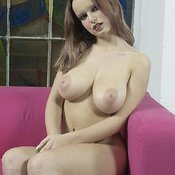 Peach A - beautiful woman with big natural breast image