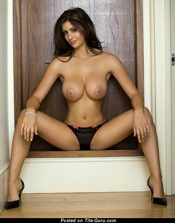 Image. Katie Marie Cork - sexy nude brunette with medium tots picture