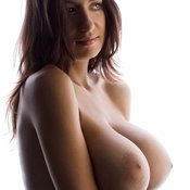 Hot girl with huge breast photo