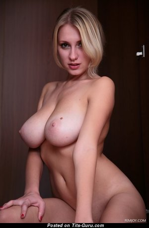 Sexy naked blonde with medium natural tittys image