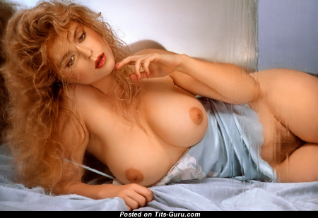 Helle Michaelsen - Exquisite Topless Danish Playboy Blonde with Exquisite Bare Natural Firm Melons (Vintage Sexual Foto)