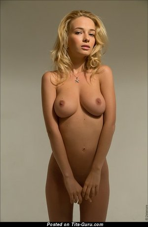 Image. Nude wonderful lady with big natural tots pic