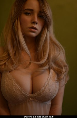Anna Blaze - Exquisite Playboy Actress with Exquisite Open Natural Average Balloons & Inverted Nipples (Porn Image)