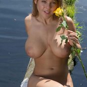 Wonderful lady with big breast pic