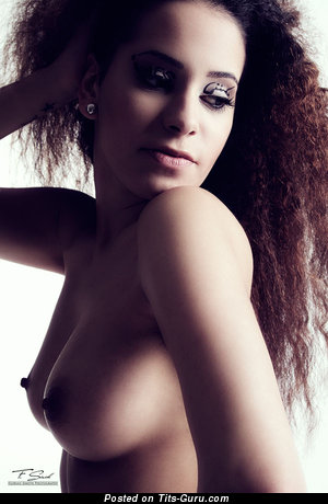 Image. Naked awesome female with medium natural tittys picture