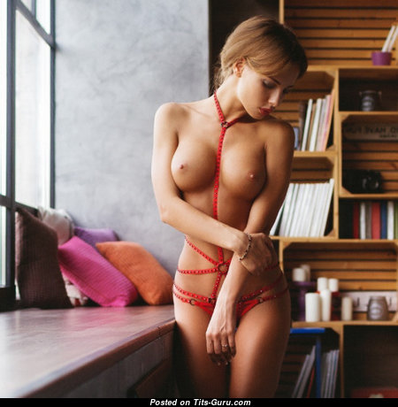 Katerina Rubinovich - Cute Brunette with Cute Defenseless Tight Breasts (Sex Image)