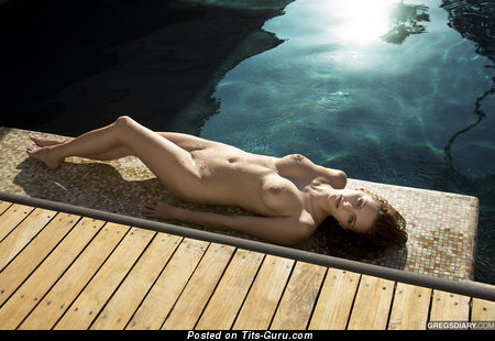 Wet naked amazing female with medium tittys picture