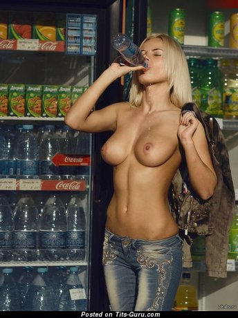 Image. Dj Aurika - topless blonde with big natural boobs picture