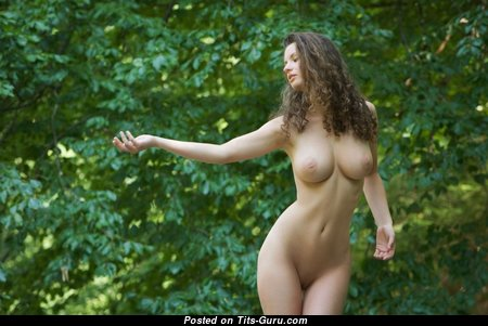 Magnificent Babe with Magnificent Bald Real Titty (Porn Image)