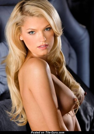 Dazzling Topless Playboy Blonde with Dazzling Defenseless Dd Size Chest (Hd Sex Photo)