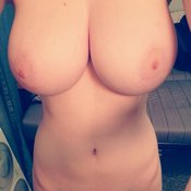 Amazing girl with big natural boob picture