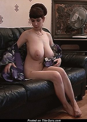 Yulia Nova - Beautiful Russian Dame Opening Gorgeous Naked Natural J Size Chest (Sexual Gif)